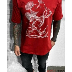 T-Shirt Mickey Rouge